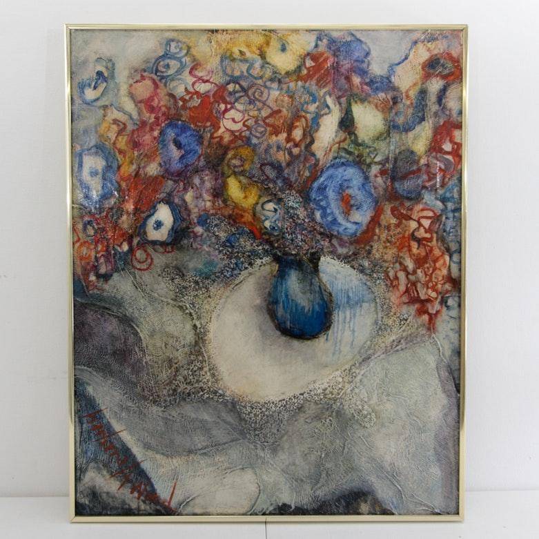 Original Barbara A. Wood Mixed Media on Canvas