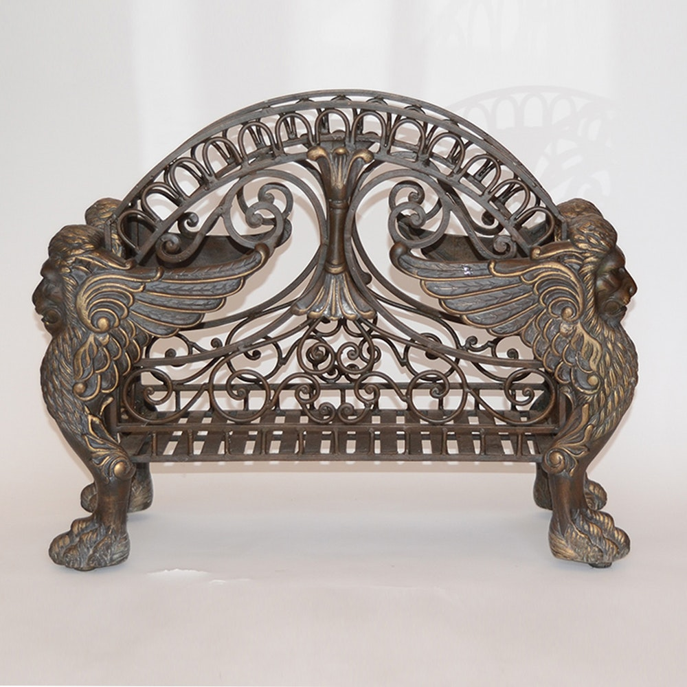 Neoclassical Style Firewood Holder