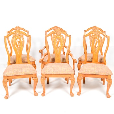 Quartet Of Ethan Allen Comb Back Captain 39 S Dining Chairs