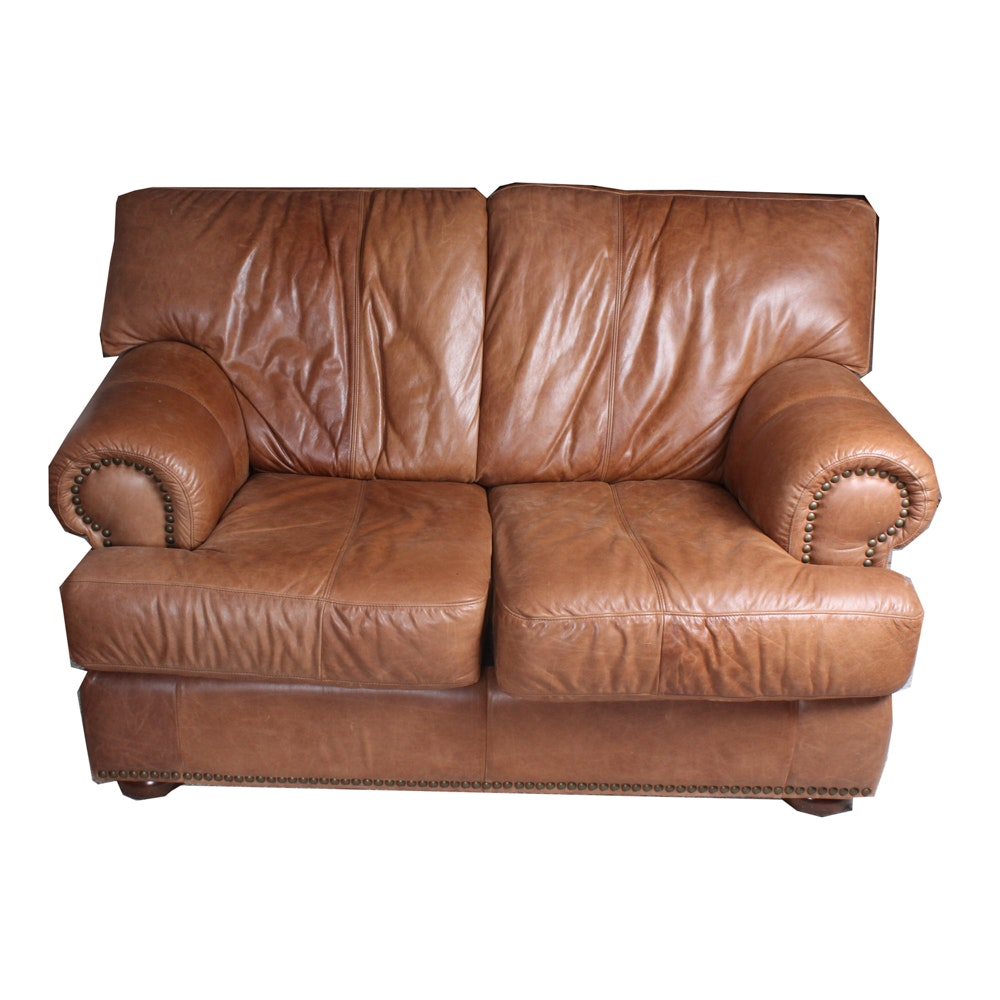 Sofa Express Leather Loveseat