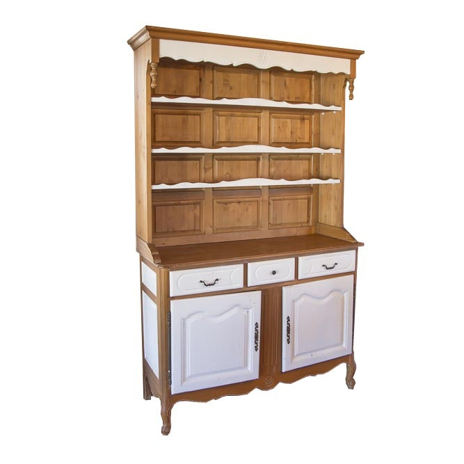 Pine Kitchen Cabinet with Cupboard