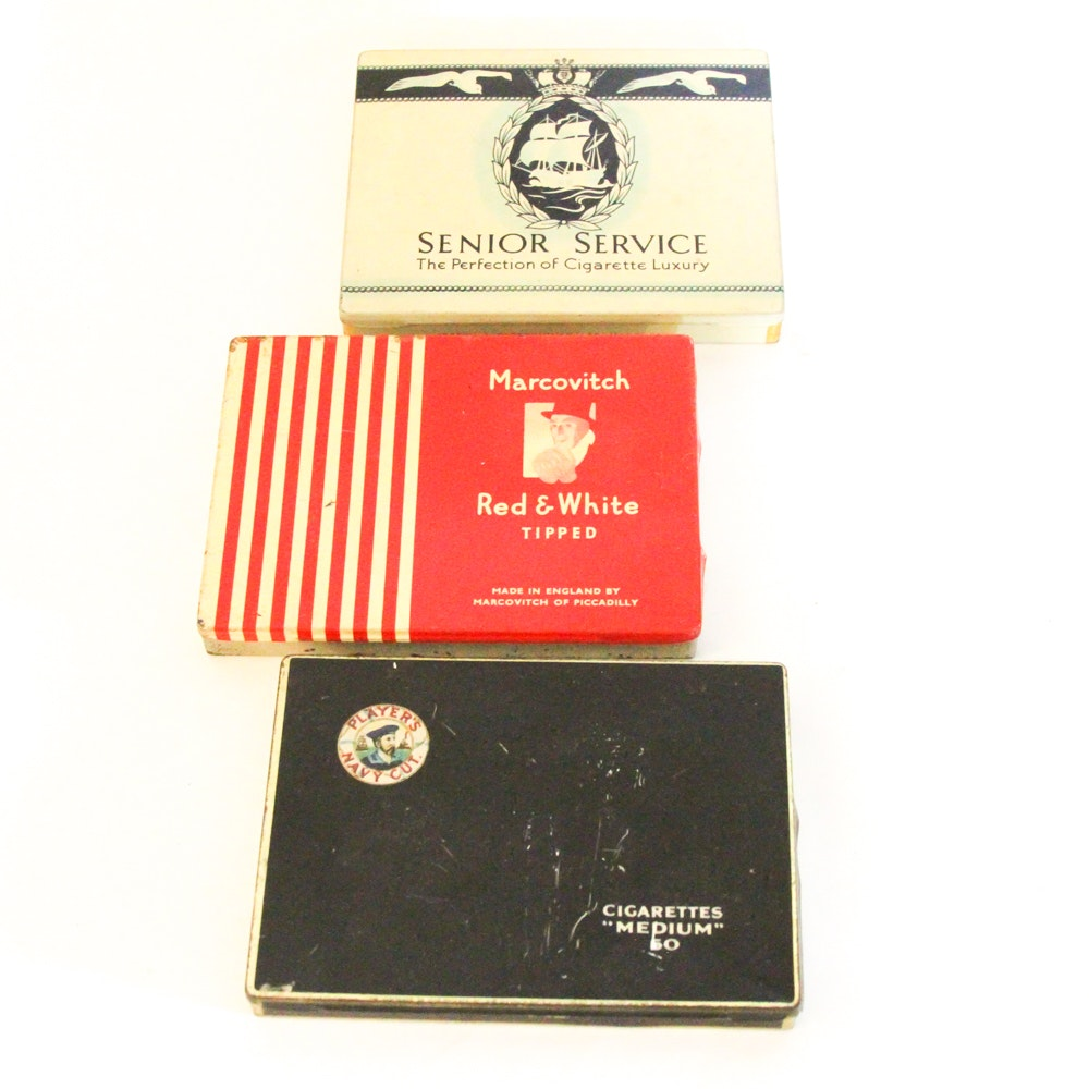 Vintage Cigarette Tins Featuring Marcovitch & Co.
