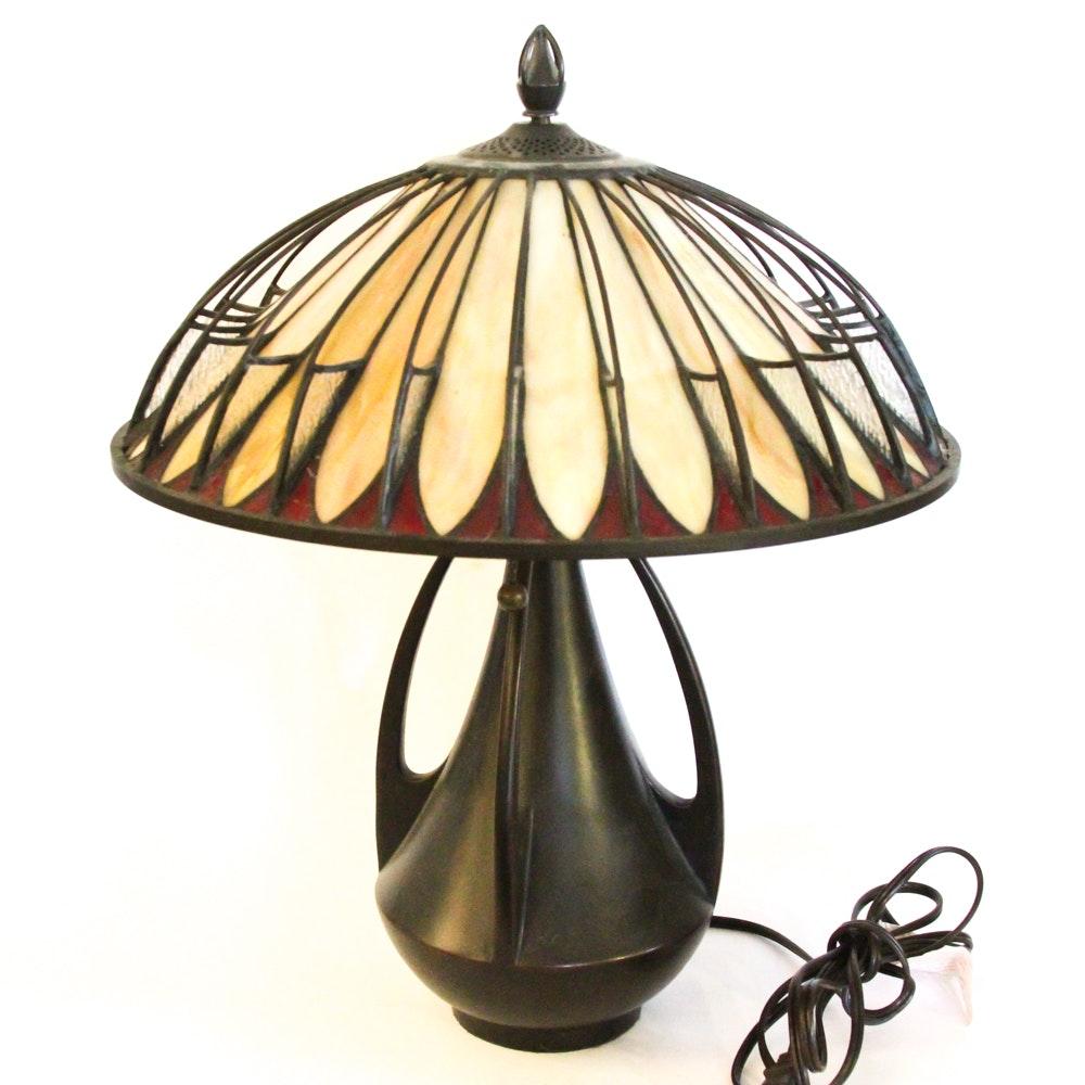 Quoizel Art Glass Table Lamp