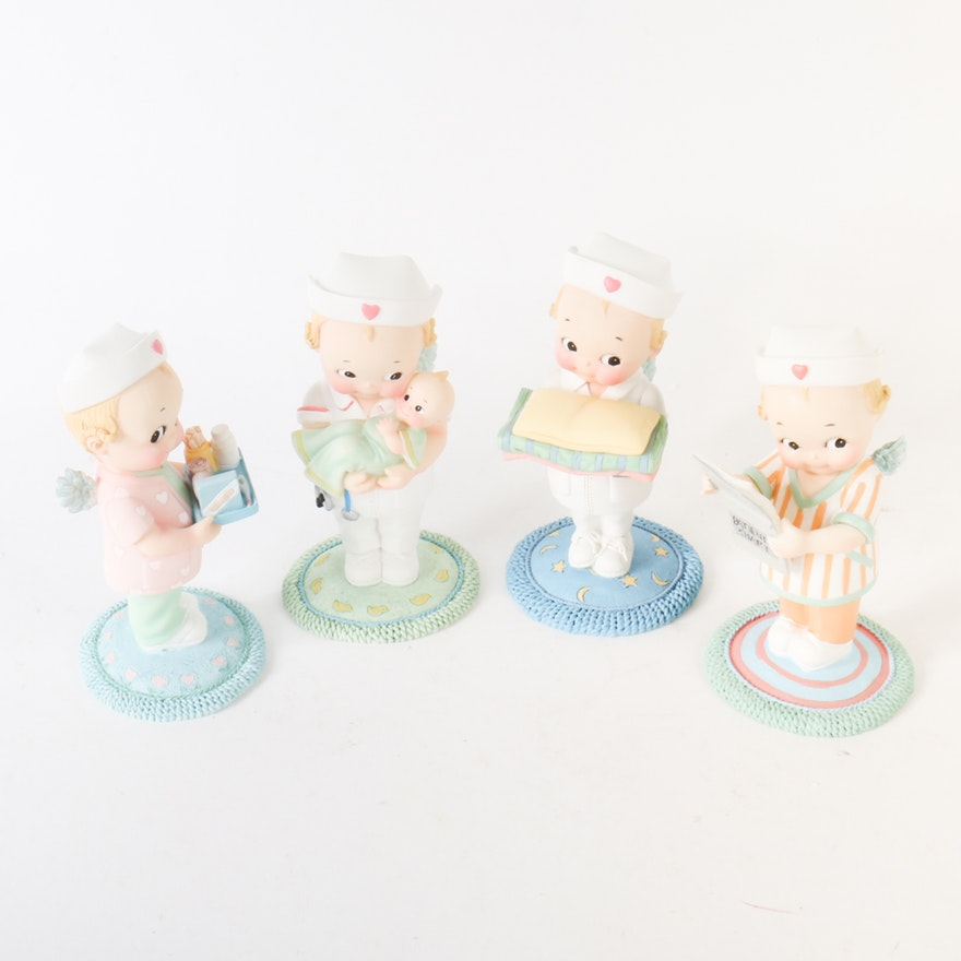Collection of Kewpie Doll Nurse Figurines