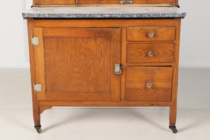 Circa 1920s Hoosiers Style Sellers Kitchen Cabinet | EBTH