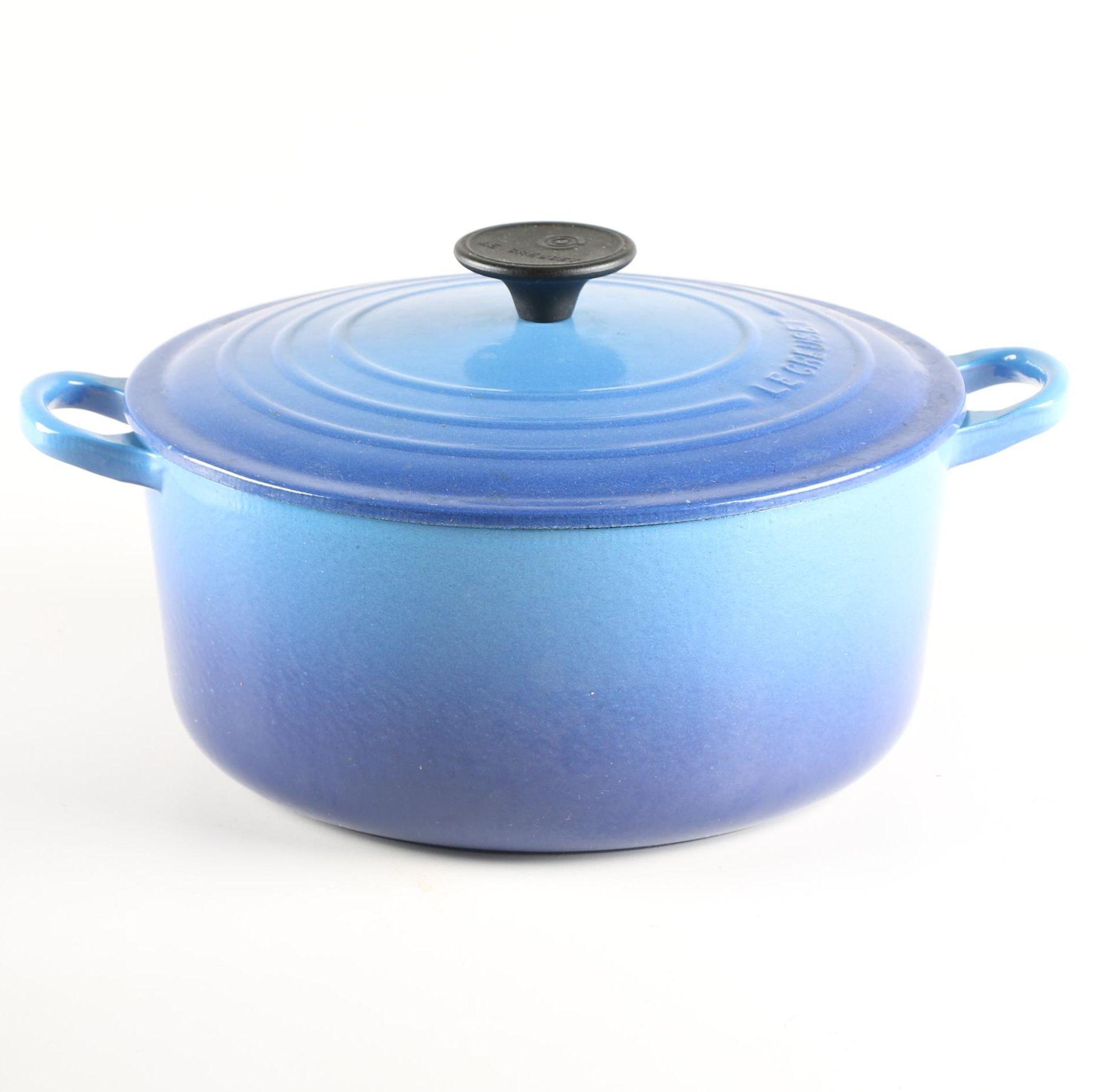 Blue Le Creuset Dutch Oven