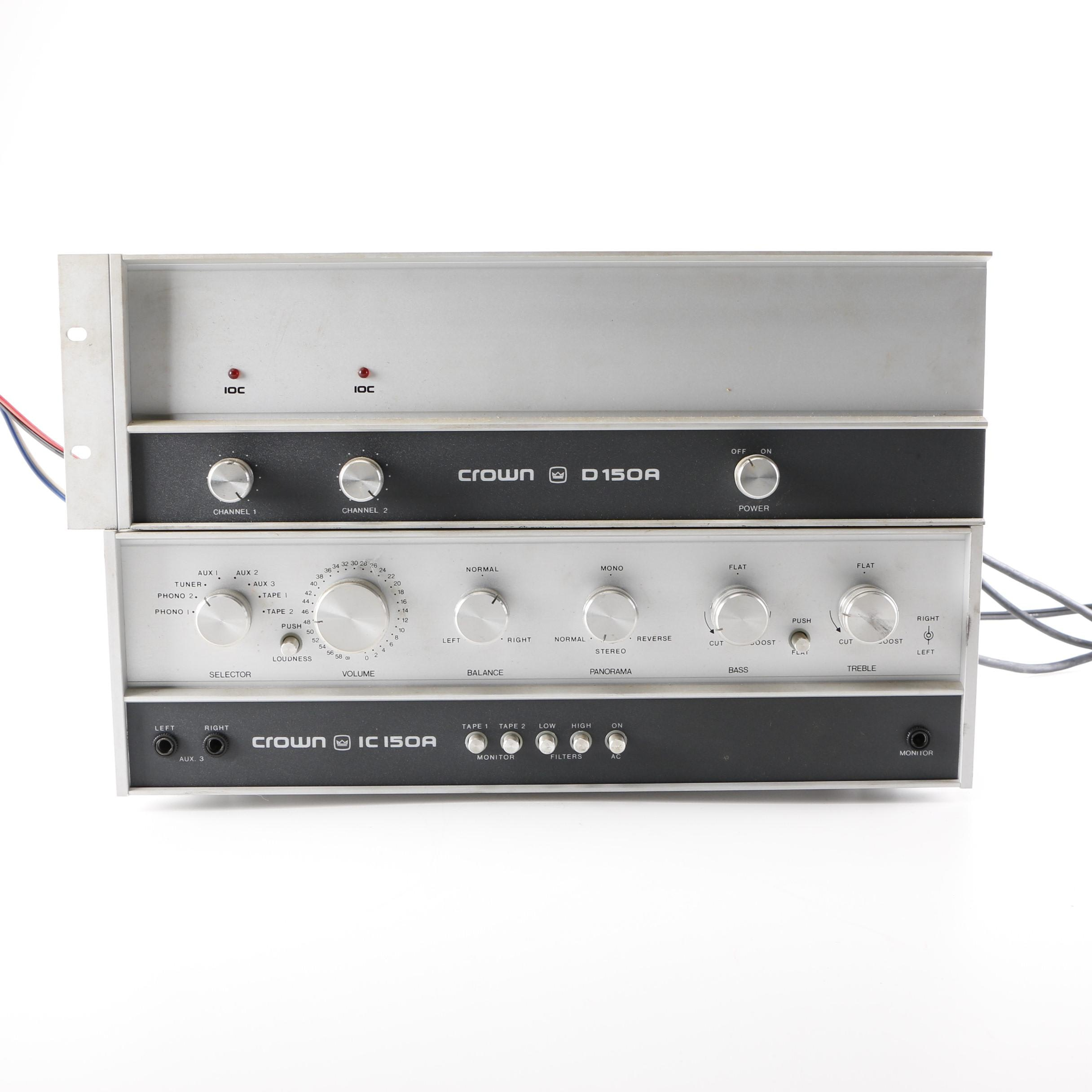 Crown IC-150A Stereo Receiver and D-150A Amplifier