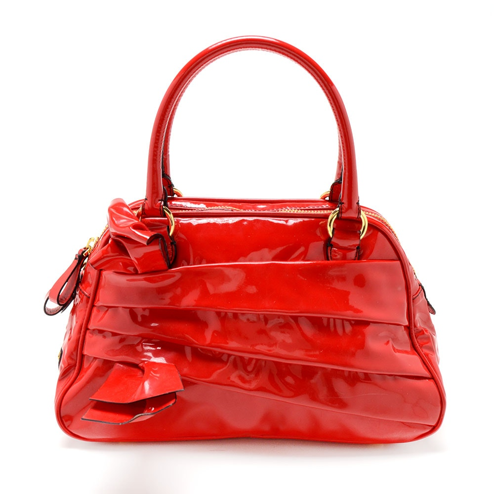 Valentino Garavani Patent Leather Handbag