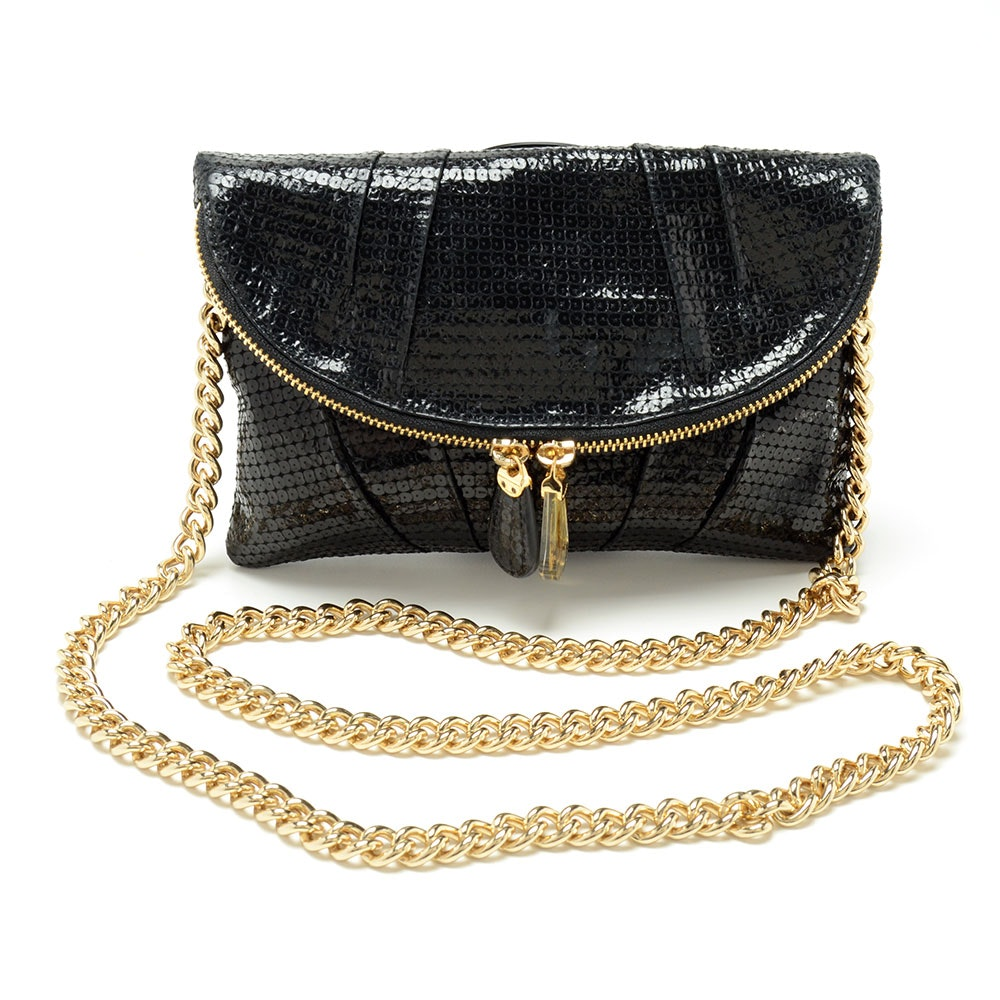 Henri Bendel Fold-Over Sequin Clutch