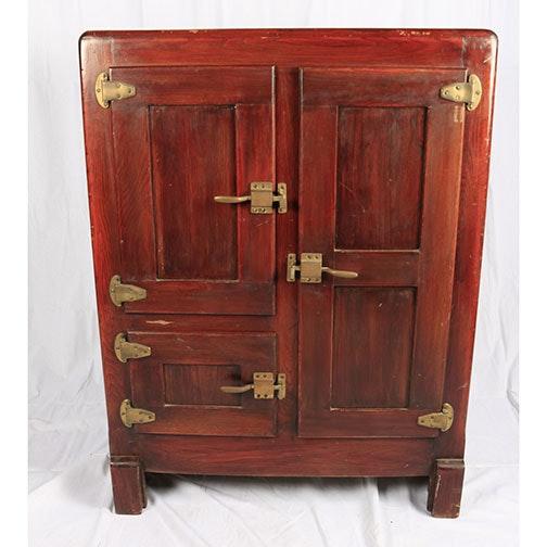 Vintage Wooden Icebox