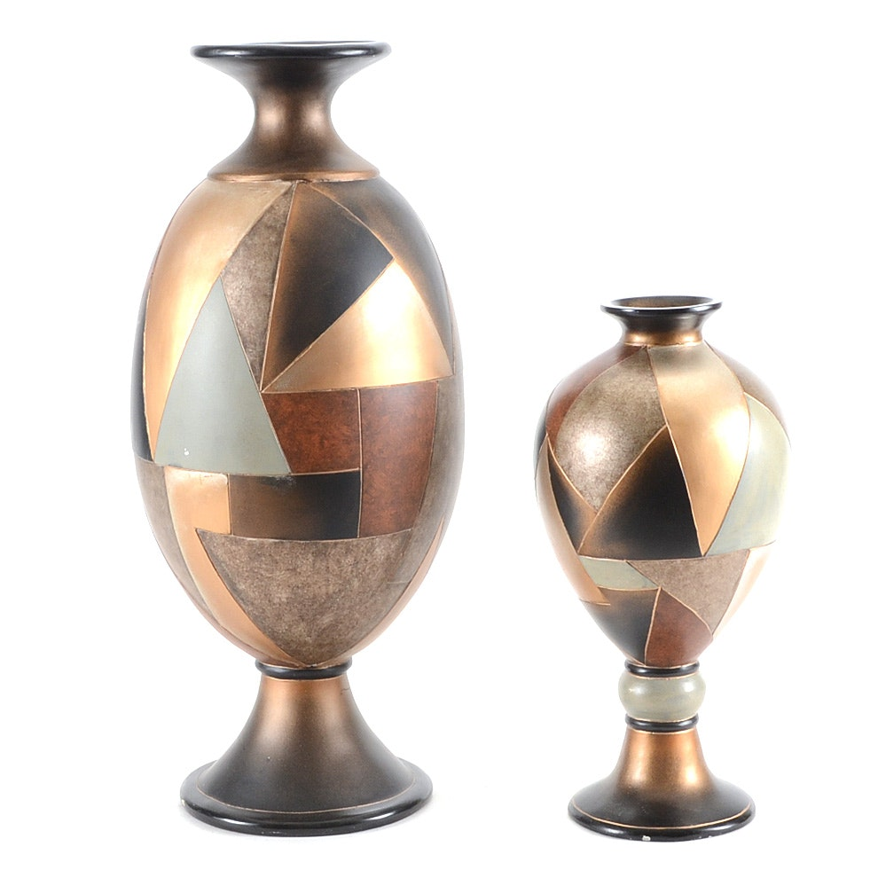 Pair Decorative Floor Vases