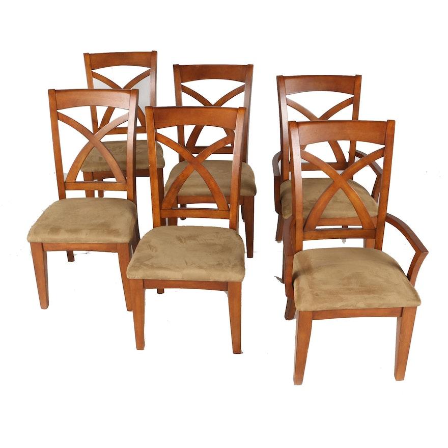 Set Of Golden Oak Dining Chairs Ebth