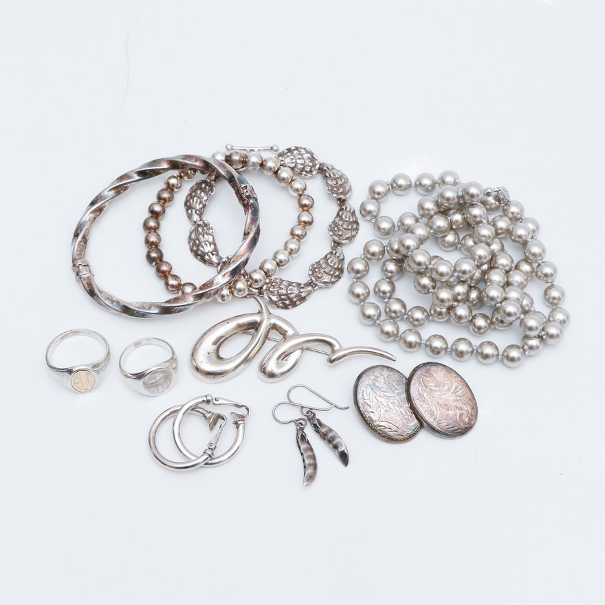05ab1f197 Assortment of Stamped 925 Sterling Silver Jewelry : EBTH