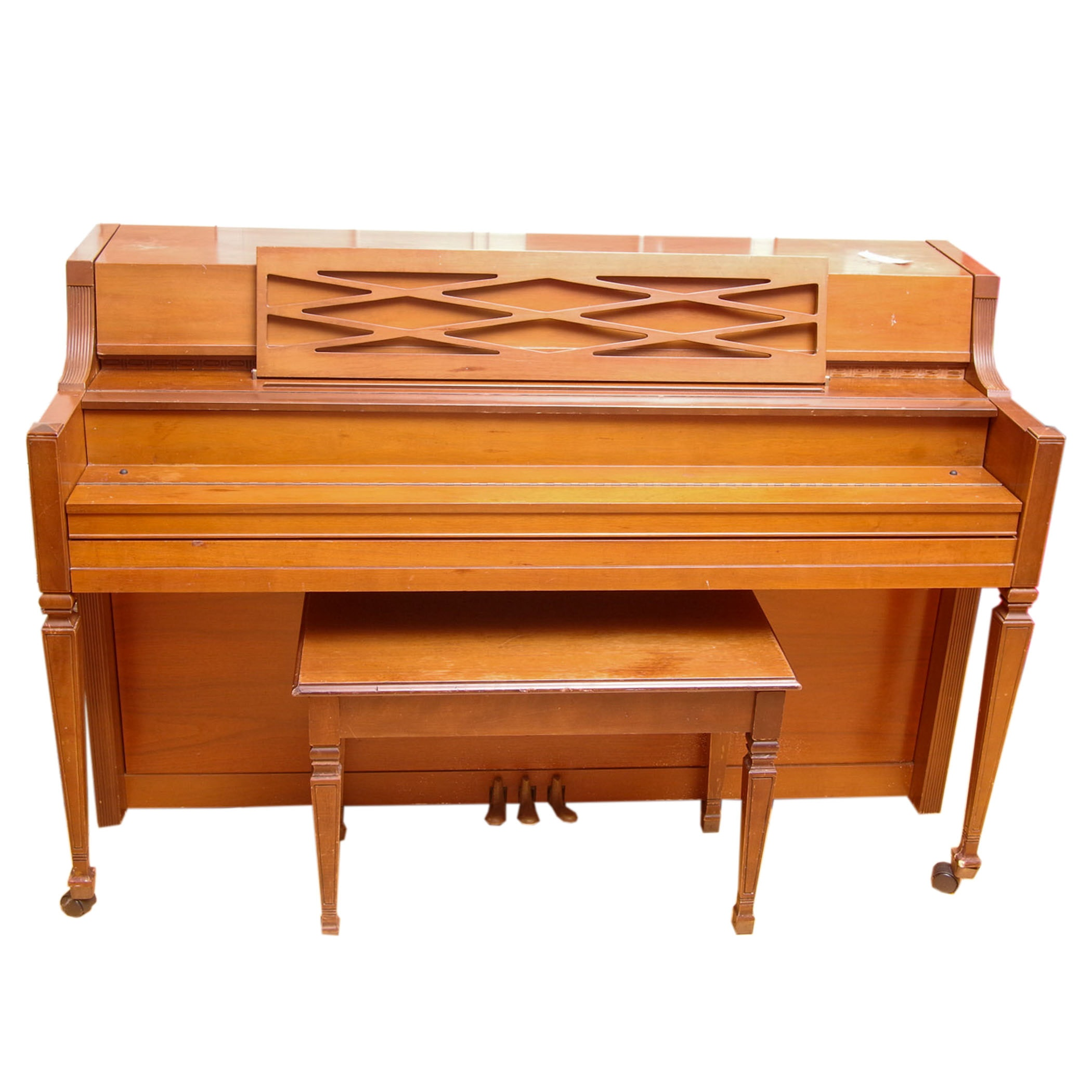 Story & Clark Spinet Piano and Bench