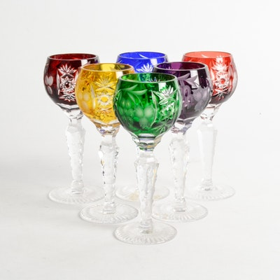 "Ajka Crystal ""Marsala"" Cased Cordial Glasses"