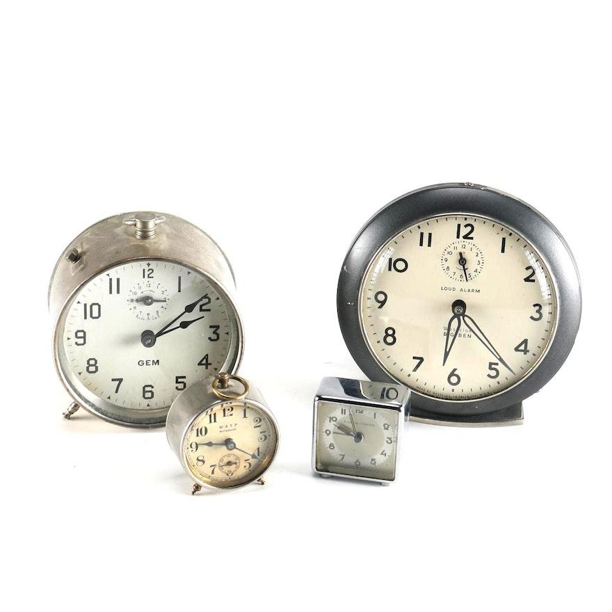 Gem Westclox Waterbury And Kienze Crometa Alarm Clocks Ebth