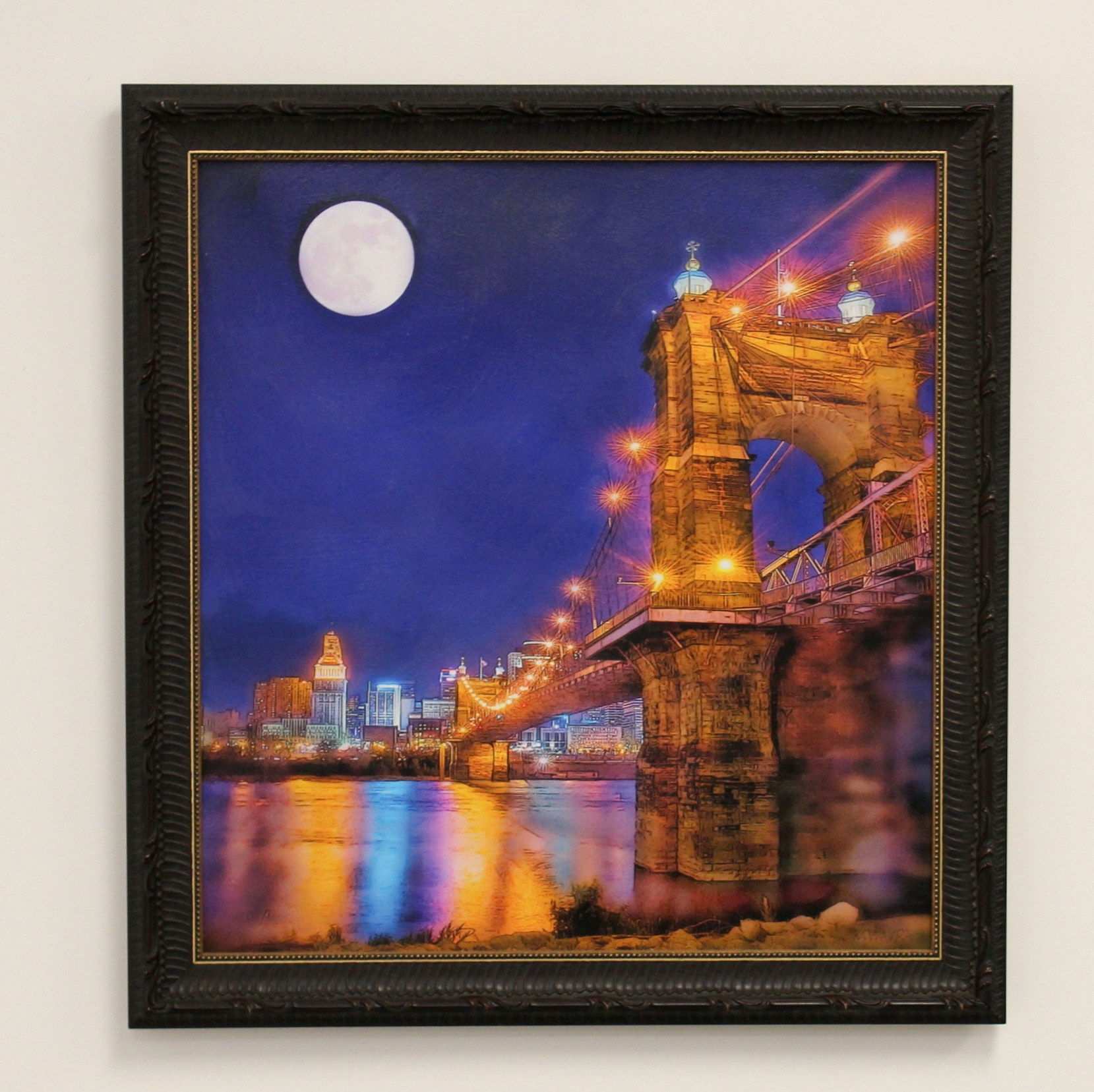 """""""Moon Over the Roebling"""" by Mark Wavra"""