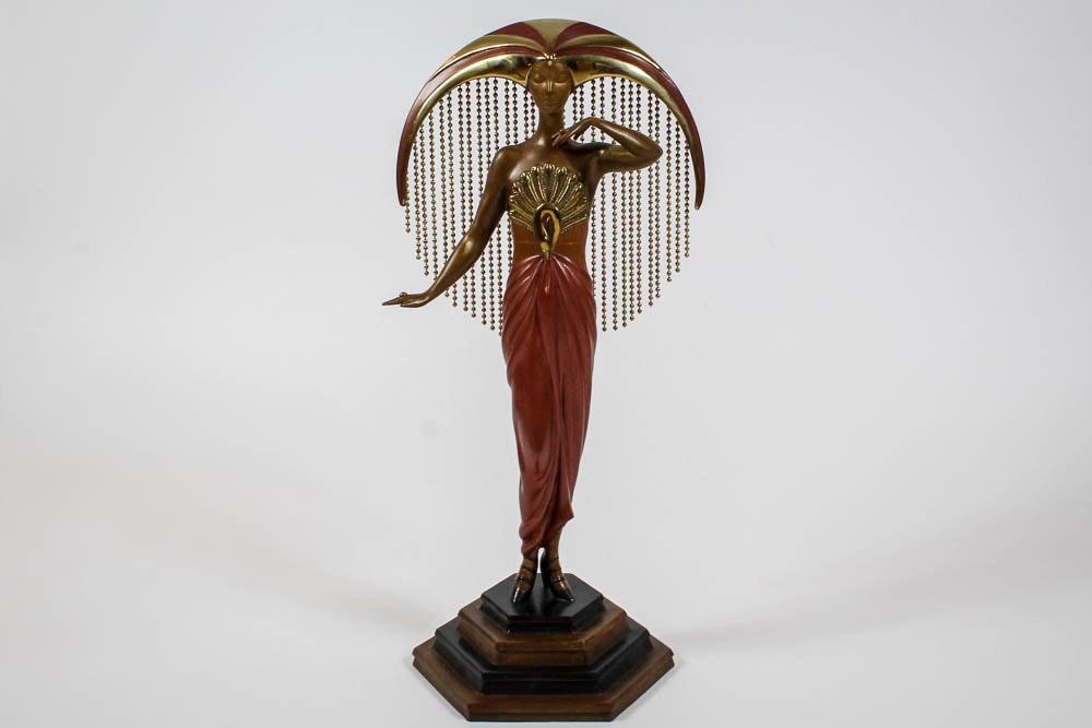 """Elegant Auto Sales >> Erté Limited Edition Gilt Bronze Sculpture """"Le Soleil"""" : EBTH"""