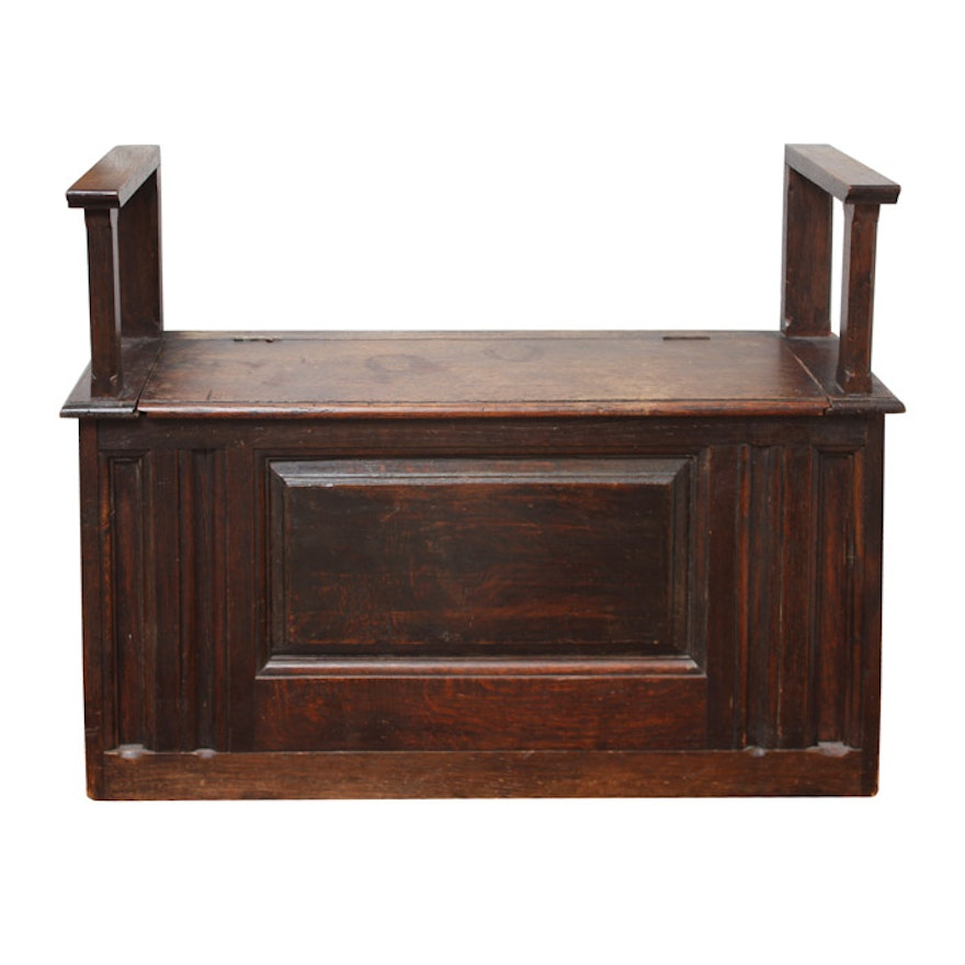 Surprising Antique Carved Oak Storage Bench Camellatalisay Diy Chair Ideas Camellatalisaycom