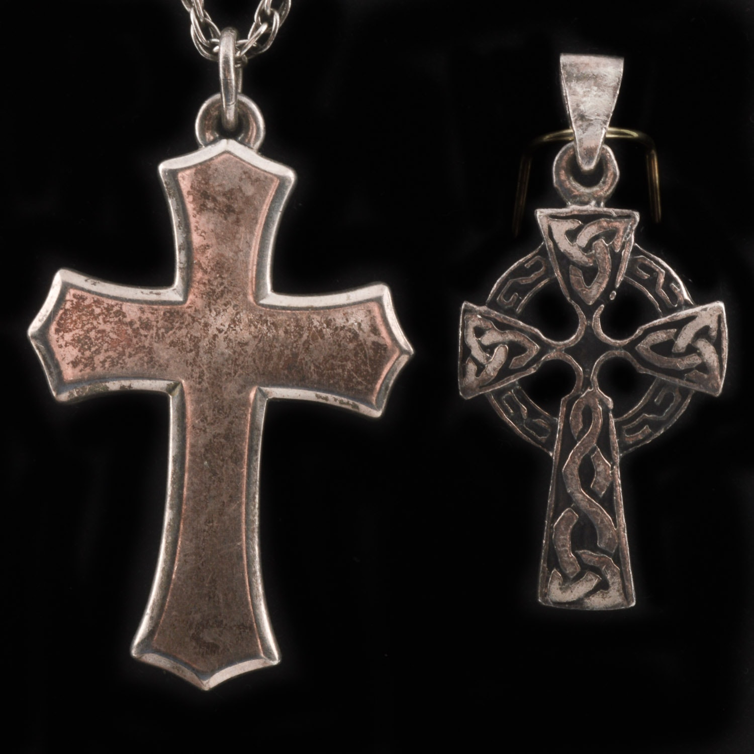 Sterling Silver Pendant Crosses Including James Avery