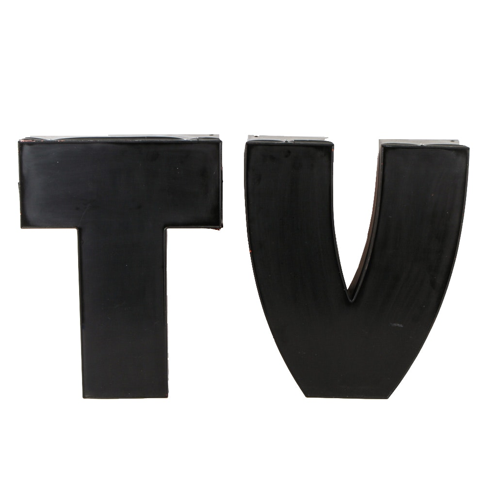 """TV"" Decorative Wall Letters"