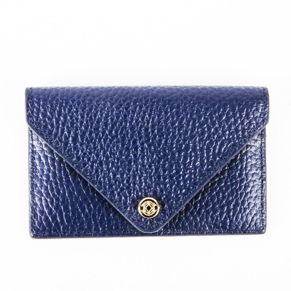 Dagne Dover Royal Blue Leather Card Case