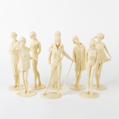 Collection of Vintage Louis Marx & Co. Female Figurines