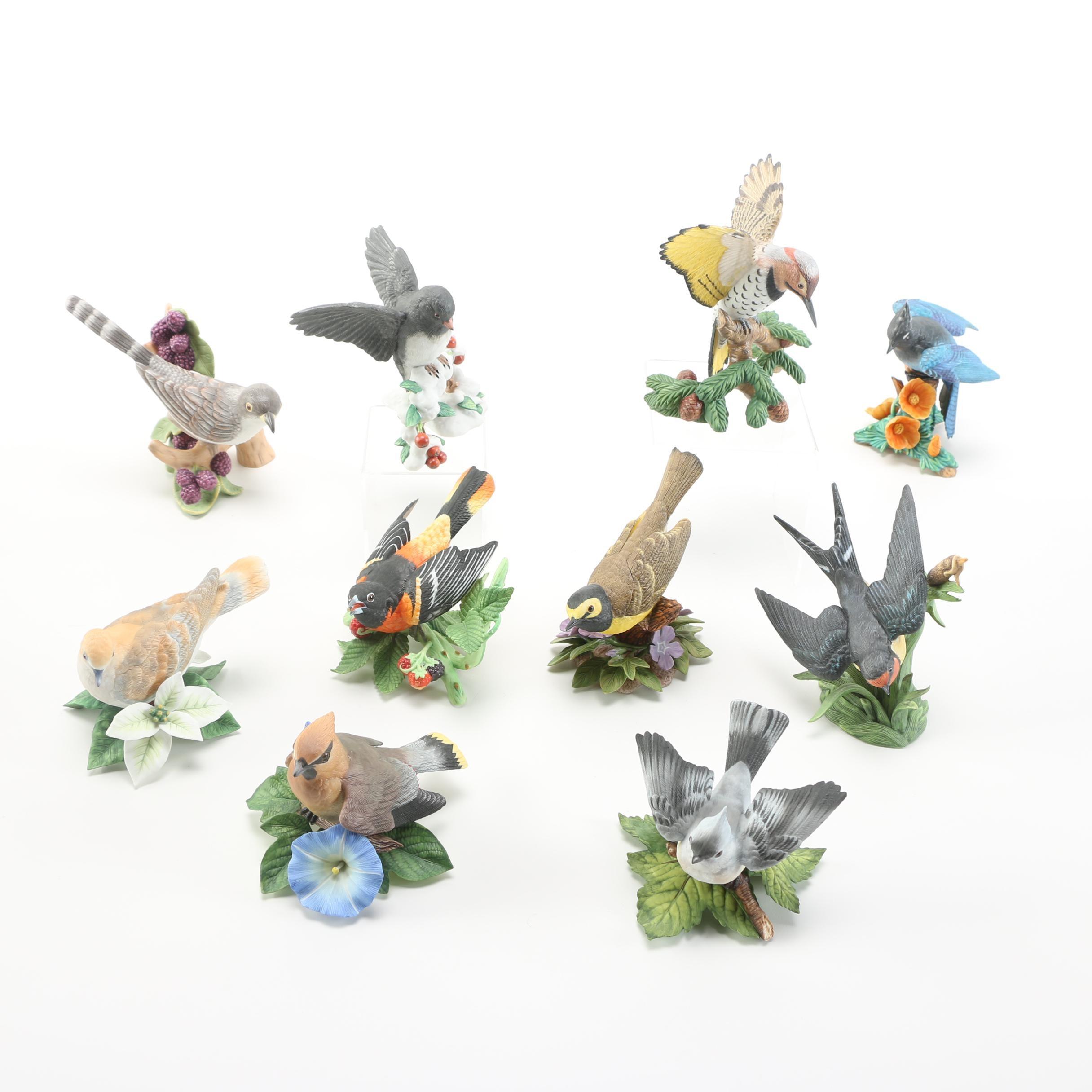 Collection of Lenox Porcelain Bird Figurines