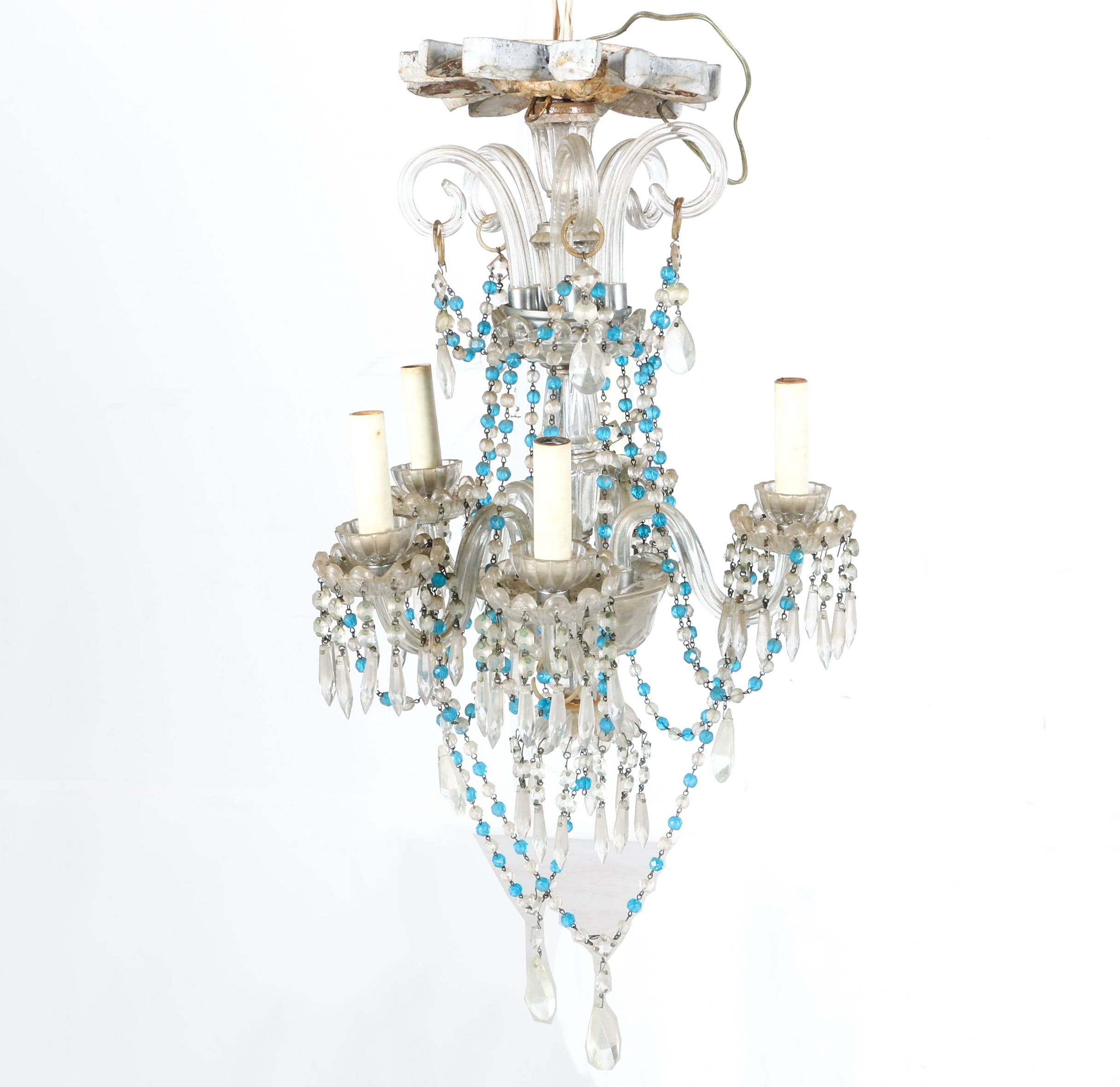 Venetian Style Glass Chandelier