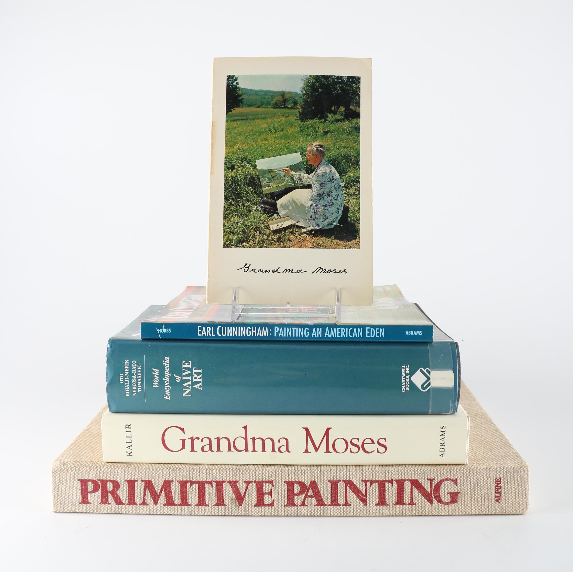 Folk Art Books Featuring Grandma Moses and Earl Cunningham