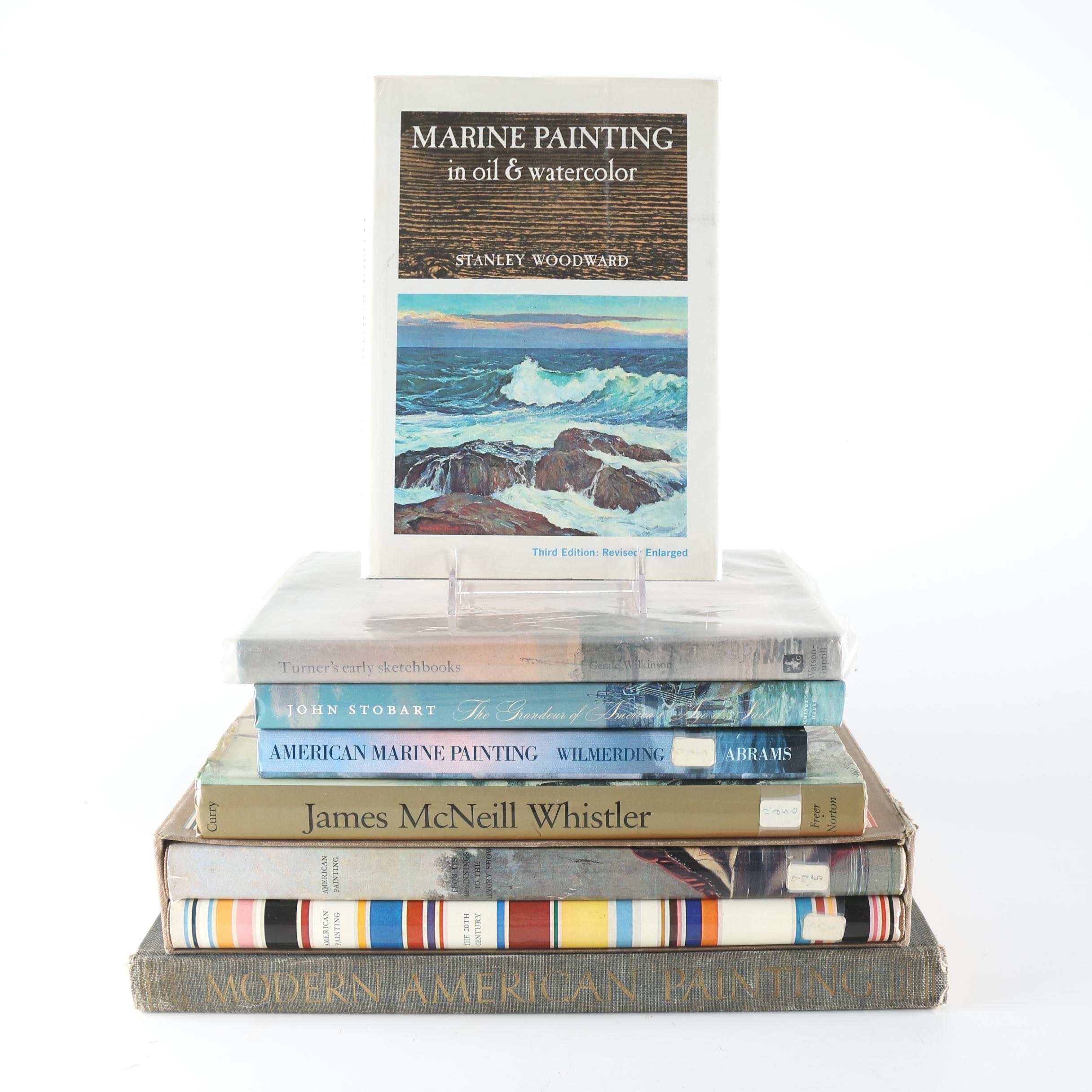 Books About American Paintings Including Marine Paintings