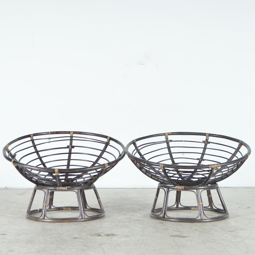 Pair of Papasan Chair Frames : EBTH