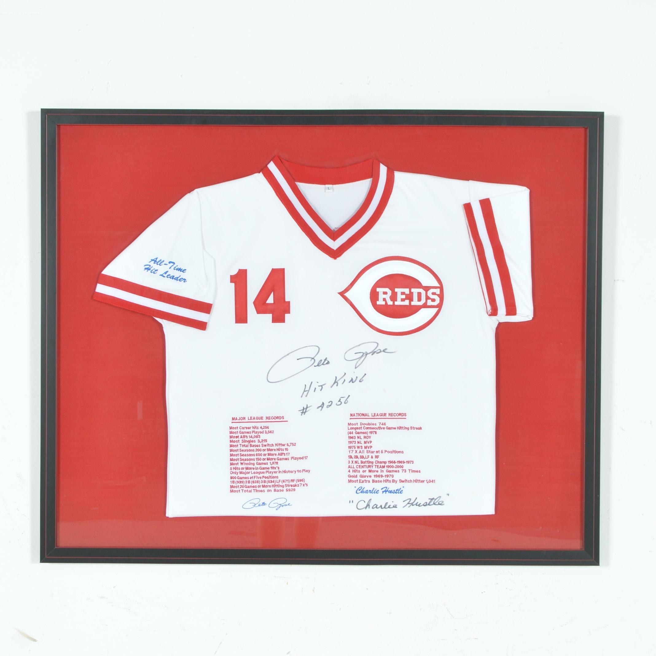 Autographed Pete Rose Cincinnati Reds #14 Jersey