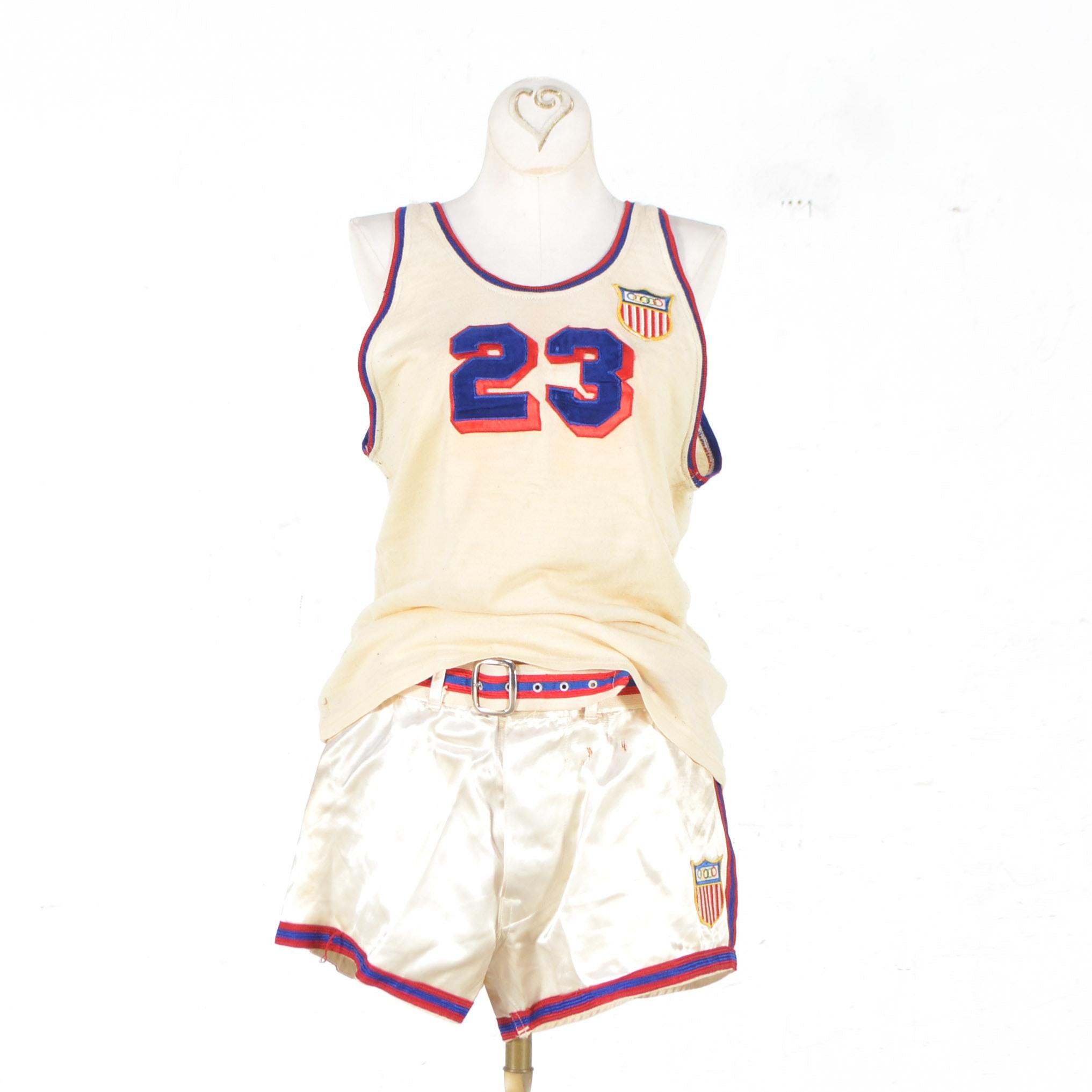 1948 U.S. Olympic Cliff Barker Basketball Uniform
