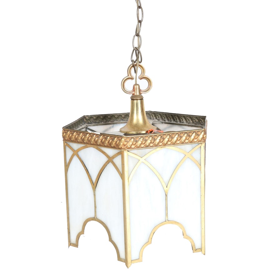 Slagg Glass Hanging Pendulum Light Fixture EBTH - Pendulum light fixtures