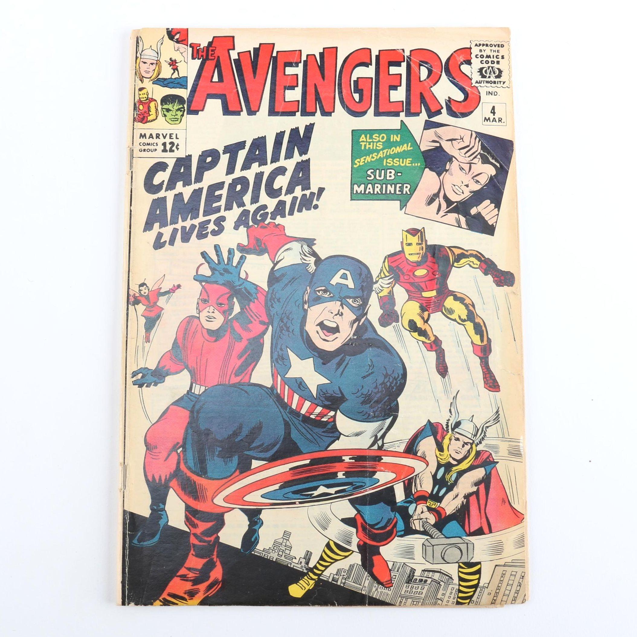 """1964 """"The Avengers: Captain America Lives Again!"""" #4"""