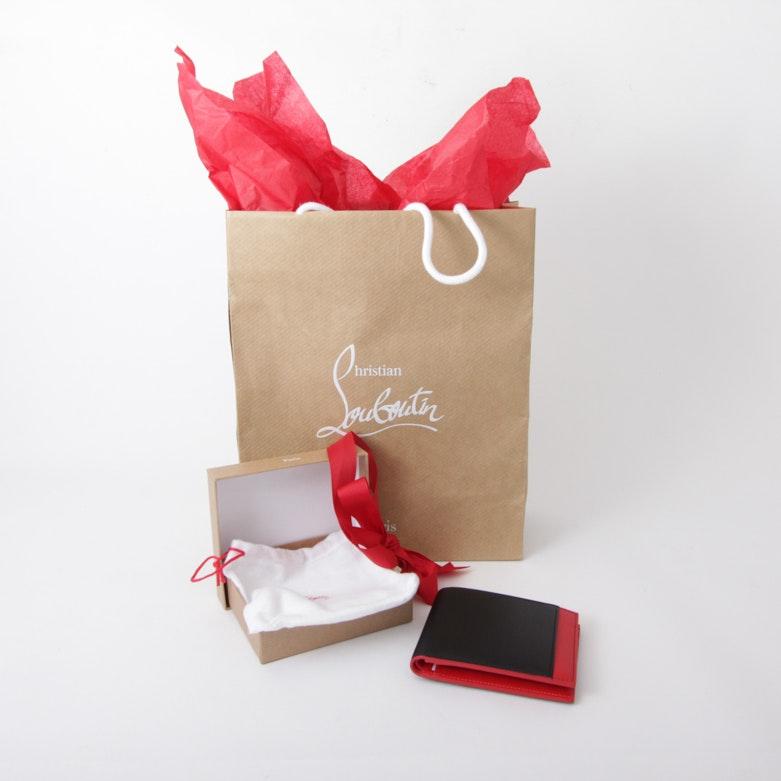Men's Christian Louboutin Leather Wallet