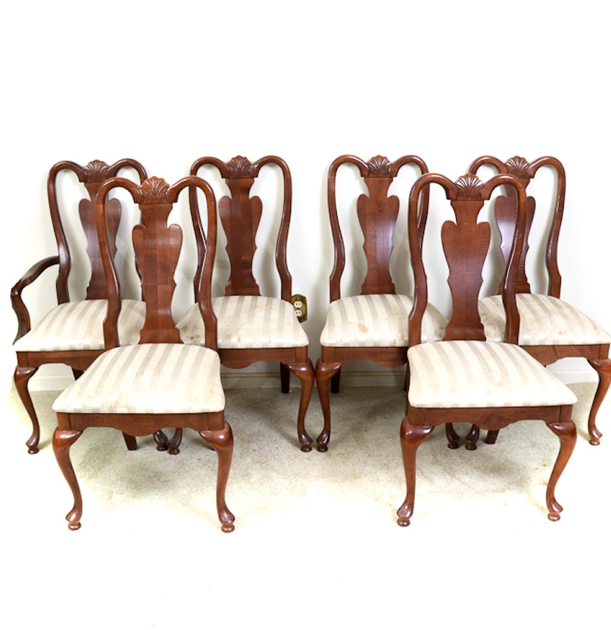 Contemporary Queen Anne Style Dining Chairs by American Drew : EBTH