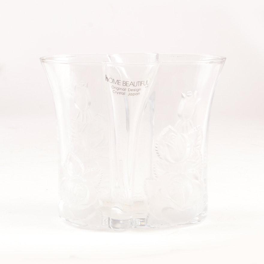 Home Beautiful Crystal Vase Ebth