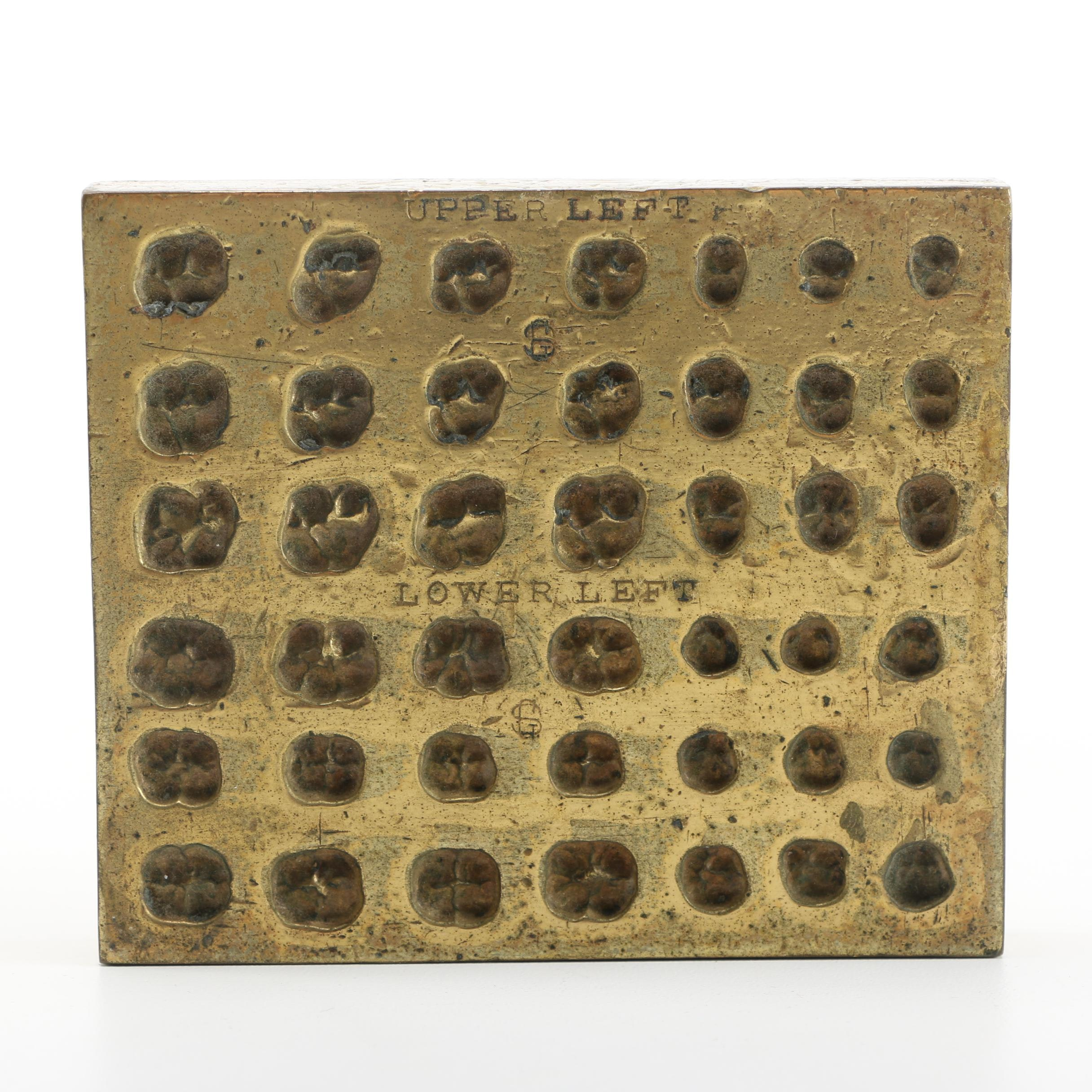Antique Brass Dentistry Mold
