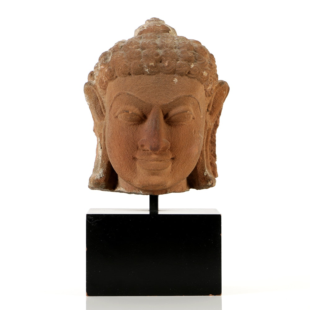 Chinese Stone Carved Buddha Fragment