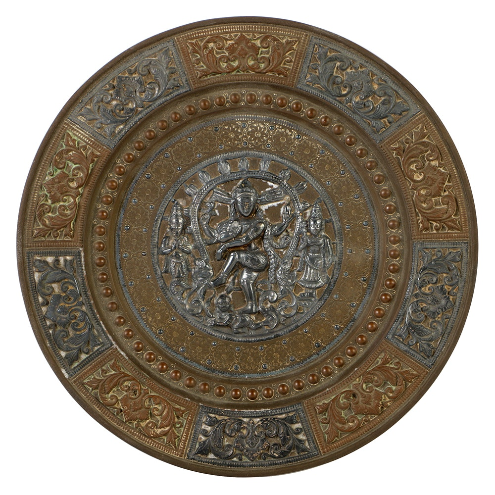 Indian Incised and Patinated Tray