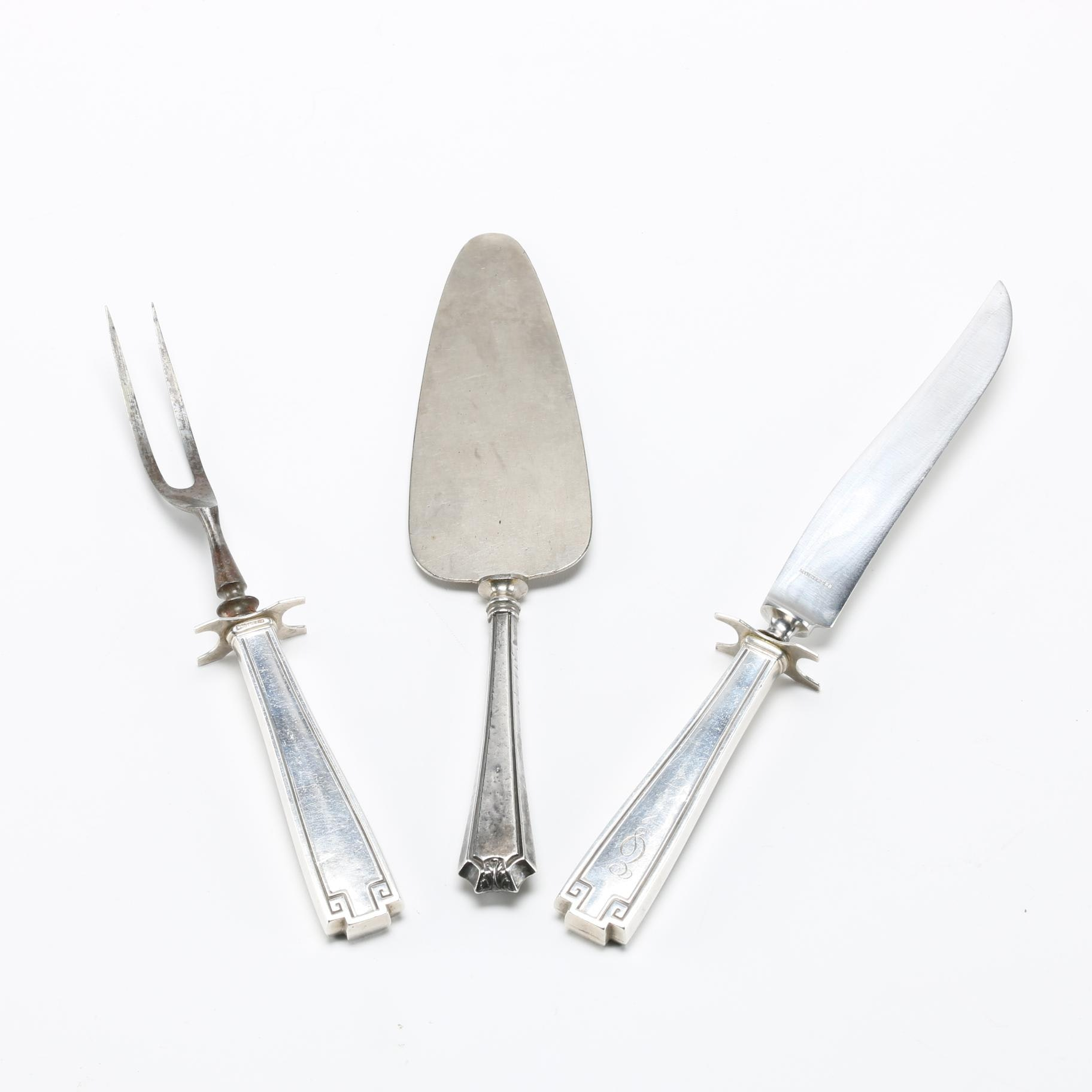 Weighted Sterling Silver Serving Utensils Featuring Gorham