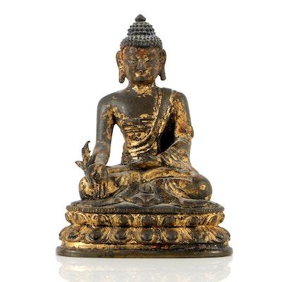 Sino-Tibetan Bronze Buddha Statue