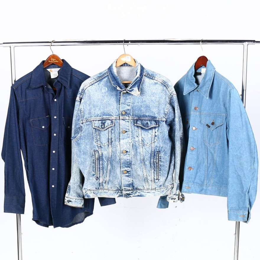 35192ee8f5 Men s Denim Jackets and Shirt Including Vintage Sears Roebuck   EBTH