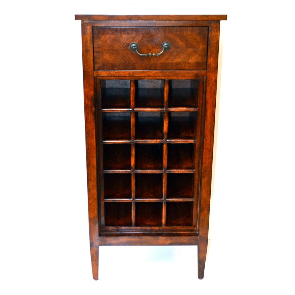 ethan allen wooden wine rack