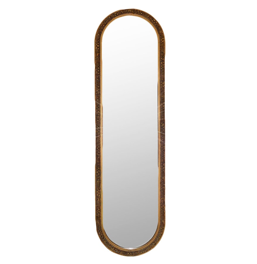 decorative oval full length mirror ebth