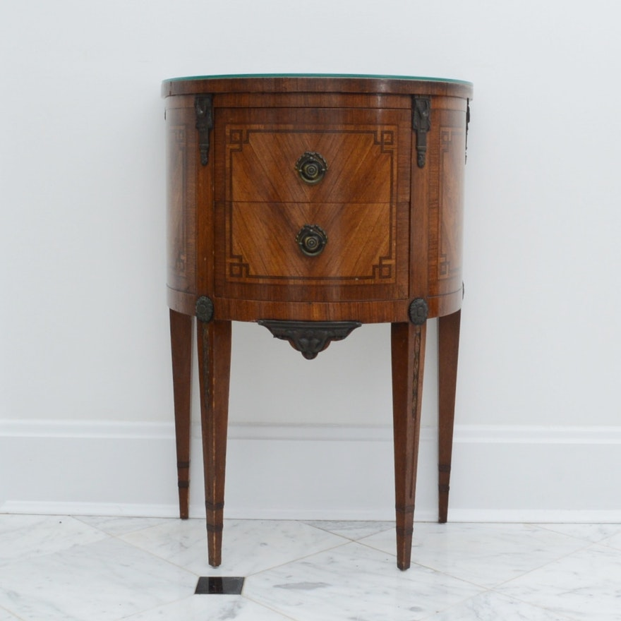 Antique Demilune Table Made by Robert W. Irwin Company (C.1930) ... - Antique Demilune Table Made By Robert W. Irwin Company (C.1930) : EBTH