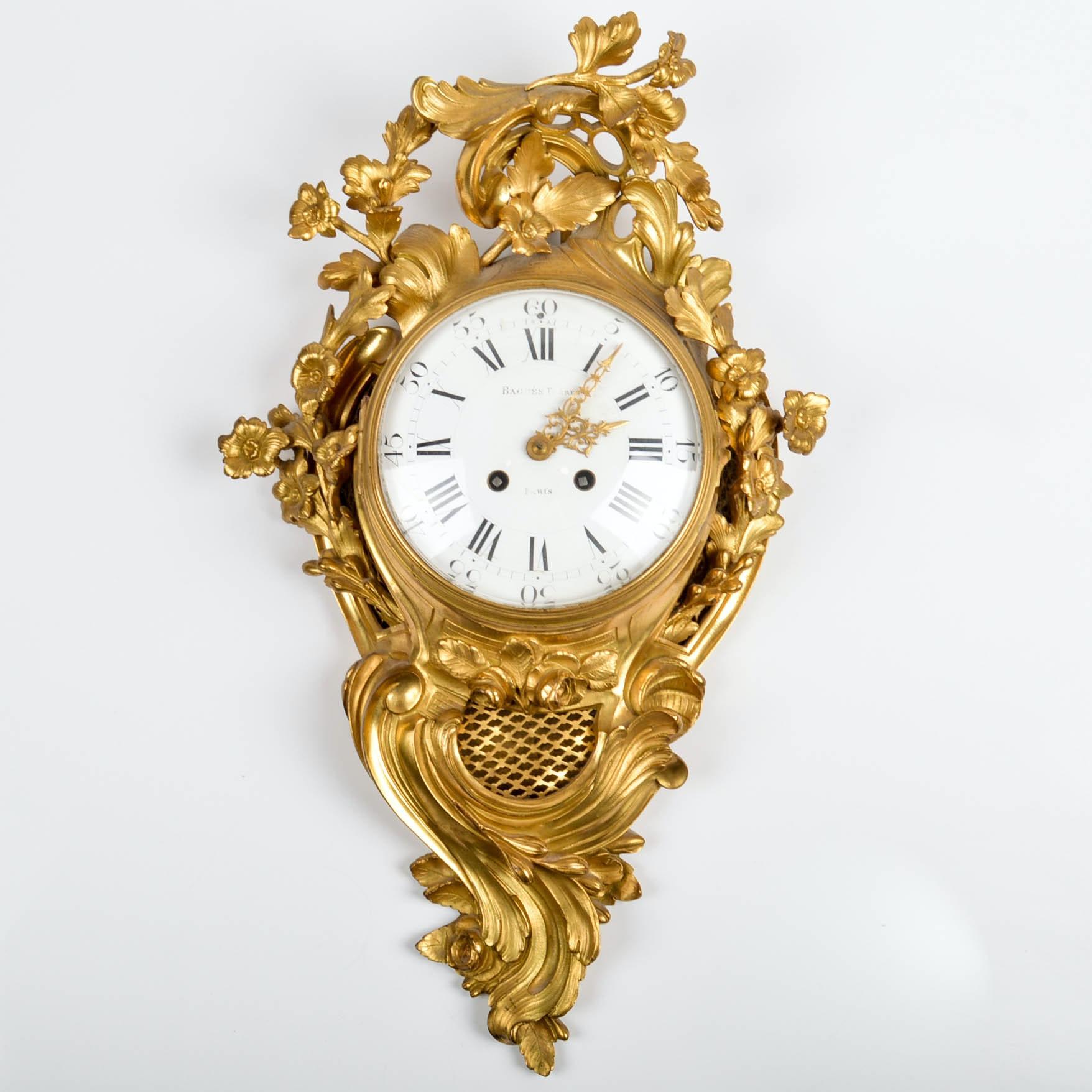 19th Century French Rococo Cartel Clock