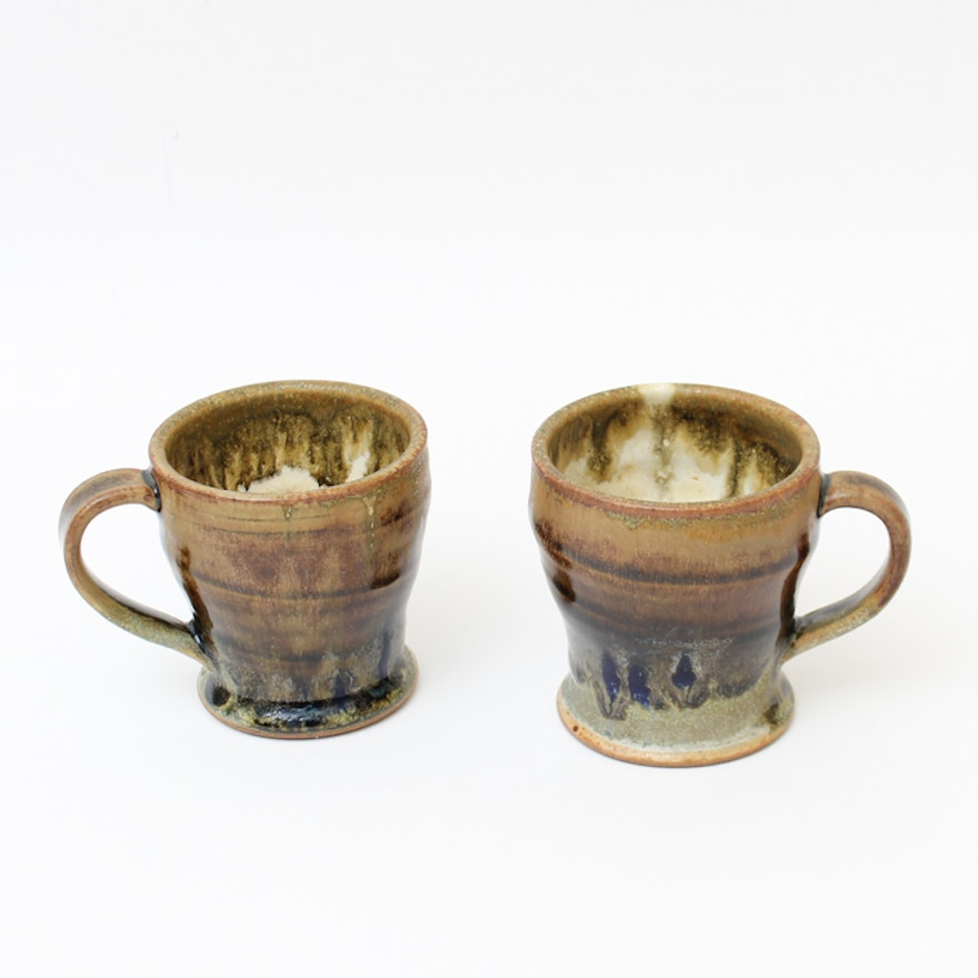 Pair of Pottery Mugs